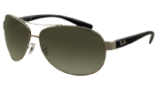 Ray-Ban 3386 Gunmetal, poly. grey/green