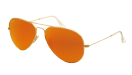 Ray-Ban Aviator Large Metal Matte gold/ Brown mirror orange
