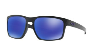 Oakley Sliver Matte Black/ Violet Iridium Polarized