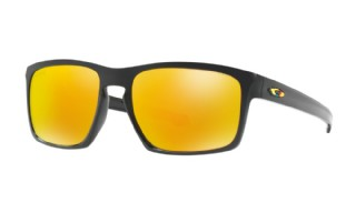 Oakley Sliver Valentino Rossi Collection Polished Black/ Fire Iridium