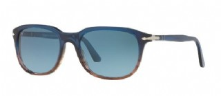 Persol Blue Stripped Brown/ Azure Gradient Blue