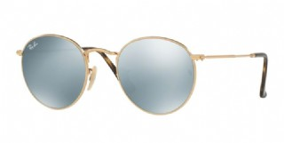Ray-Ban Round Metal Flat Gold/ Silver Flash