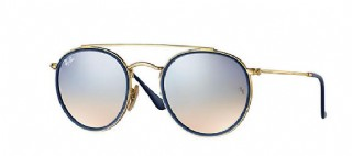 Ray-Ban Round Metal Double Bridge / Gold/ Silver Flash Gradient
