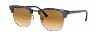 Ray-Ban Clubmaster Fleck/ Spotted Blue & brown tortoise , Black/ Light Brown Gradiënt