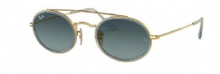 Ray-Ban Round Double Bridge Gold / Blue Gradiënt