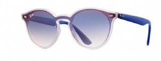 Ray-Ban Hight street Blaze Transparant Blue / Blue Gradiënt Mirror