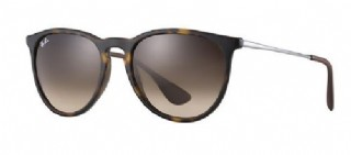Ray-Ban Erika Rubber Havana/ Poly brown gradient