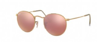 Ray-Ban Round Metal Gold/ Copper Flash