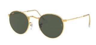 Ray-Ban Round Metal Gold/ Green Classic G15 Gold Icon
