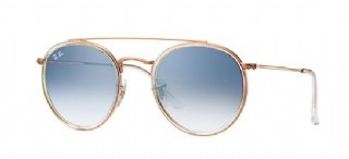 Ray-Ban Round Metal Double Brigde Copper/  Lightblue Gradient