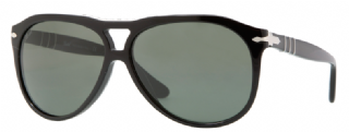 Persol PO3008S Black, Crystal polarized green internal