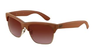 Ray-Ban Dylan 4186 Dark rubber sand/ silver/ Gradient violet
