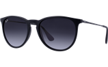 Ray-Ban Erika Rubber black/ Poly grey gradient