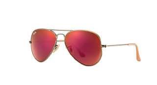 Ray-Ban Aviator Large Metal Bronze-Copper/ Red Mirror
