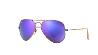 Ray-Ban Aviator Large Metal Bronze-Copper/ Violet Mirror