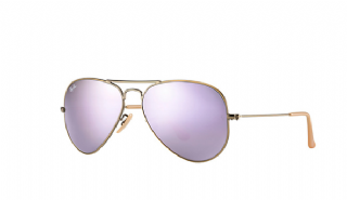 ##Ray-Ban Aviator Large Metal Bronze-Copper/ Lilac Mirror Polarized