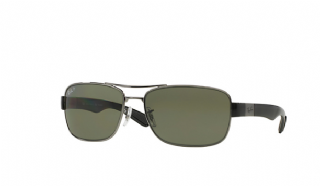 Ray-Ban 3522 Gunmetal/ Polarized Green Classic G15