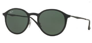 Ray-Ban Round Light Ray Black/ Green Classic