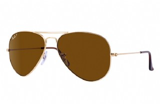 Ray-Ban Aviator Large Metal Gold/ Crystal Brown Polarized