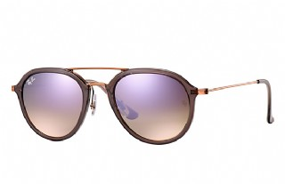 Ray-Ban 4253 Grey Bronze Copper/ Lilac Gradient Flash
