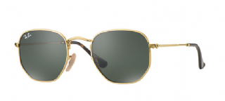 Ray-Ban Hexagonal Flat Lenses Gold/ Green Classic G-15