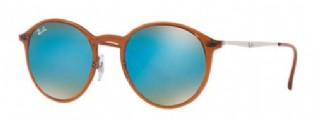 Ray-Ban Round Light Brown/ Blue Gradient Flash