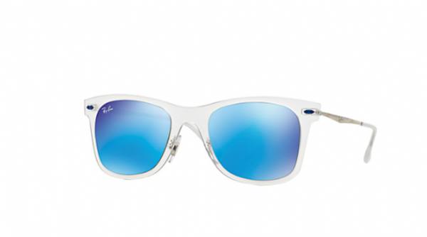 Ray Ban Wayfarer Light Ray Transparent Blue Mirror